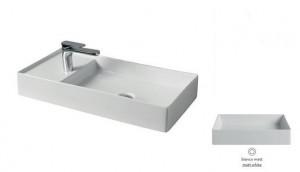 SCL004 05; 00 Раковина ArtCeram Scalino 75, накладная, цвет - белый матовый, 75 х 38 х 11,5 см