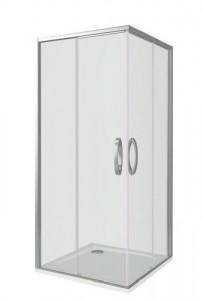 АН00006 Душевое ограждение Good Door Antares CR-100-C-CH 100 х 100 х 195 см,, стекло прозрачное, хром