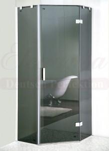 GREY. 331 Душевой уголок Elegansa TRAPEZ GREY 331, 80 x 80 x 200 см, стекло тонированное