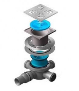 13000007 Трап водосток Pestan Confluo Standard Square 3 150*150 мм нержавеющая сталь без рамки