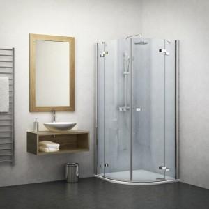 131-1000000-00-02 Душевой уголок Roltechnik Elegant Line, 100 х 100 см, стекло прозрачное