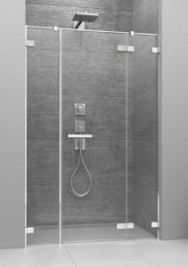 386457-03-01R/386122-03-01R Душевая дверь в нишу Radaway Arta DWJS 150 R с двумя неподвижными сегментами, стекло прозрачное