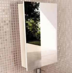 Зеркальный шкаф Comforty Диана 50 белый глянец