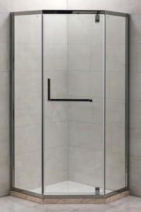 PR-90SD Душевой уголок Grossman Pragma, пятиугольный, 90 x 90 x 200 см, стекло прозрачное, цвет профиля - серебро