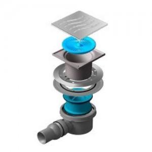 13000001 Трап водосток Pestan Confluo Standard Tide 1 150*150 нержавеющая сталь без рамки