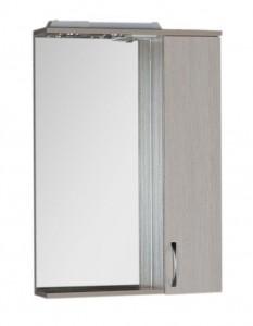 Зеркало-шкаф Aquanet Донна 60 00169038, цвет белый дуб