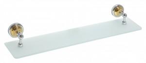 Полка стеклянная Bemeta Retro 144202248 60 x 12 x 8.7 см, хром/золото