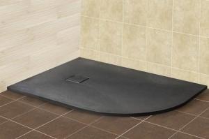 16154128-02L Душевой поддон RGW ST/A L/R – 0128G/R 80 x 120 см, асимметричный, цвет серый, из искусственного камня