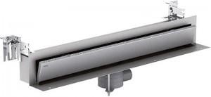 150391 Дренажный канал MEPA/TersoWALL, пристенный, 800 мм, в комплекте накладка нержавеющая сталь,ножки, сифон 0,81л/с