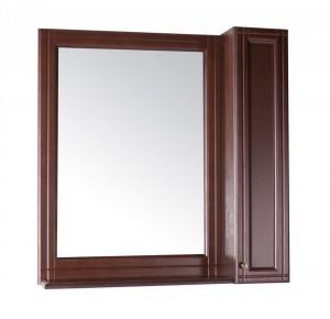Зеркало ASB-Woodline Берта 85 со шкафчиком, массив ясеня, антикварный орех