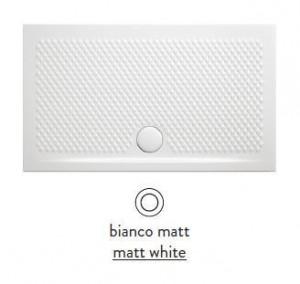 PDR019 05; 00 Поддон ArtCeram Texture 100 х 80 х 5,5 см,, прямоугольный, цвет - белый матовый, из искусственного камня