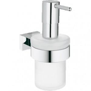40756001 GROHE Essentials Cube Дозатор жидкого мыла с держателем, хром