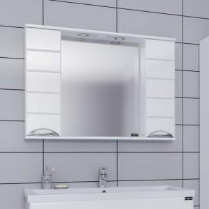 Зеркальный шкаф СаНта Родос 100 106018, с подсветкой