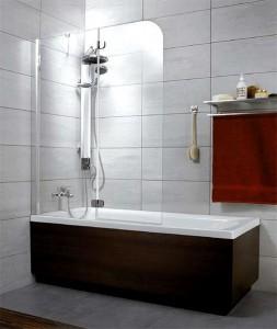 201203-101NL Шторка на ванну Radaway Torrenta PND 120 прозрачное стекло L