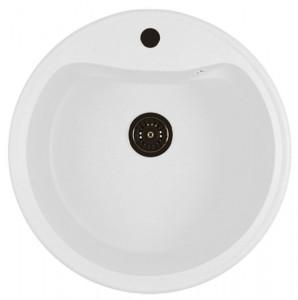ML-GM09 (341) Кухонная мойка Mixline, врезная сверху, цвет - молочный, 49 х 49 х 18.5 см
