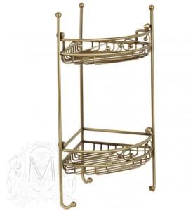 Решетка угловая ажурная двойная ML.COM-50.212 , золото