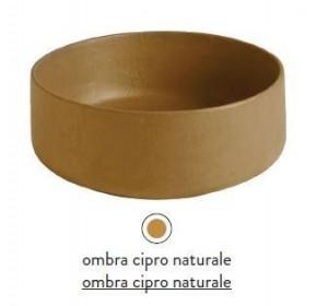 COL002 18; 00 Раковина ArtCeram Cognac, накладная, цвет - ombra cipro naturale, 48 х 48 х 12,5 см