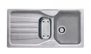 114.0185.007 Мойка Franke CALYPSO COG 651,, гранит, установка сверху, оборачиваемая, цвет серебристый, 97*50 см