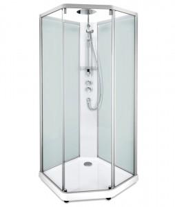 558.204.308 Душевая кабина IDO Showerama 10-5 Comfort, 90 x 80 см, стекло прозрачное, задние стенки матовые, профиль алюминий