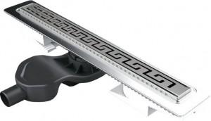 091027-bokovoy Душевой лоток Berges Wasserhaus B1 Antik 091027 90 см, боковой выпуск, хром глянцевый