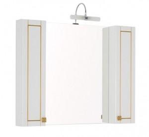 Зеркало-шкаф Aquanet Честер 105 00186084, цвет белый, патина золото