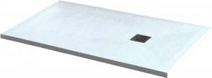14152818-01 Душевой поддон RGW ST-188W 80 x 180 см, прямоугольный, цвет белый, из искусственного камня