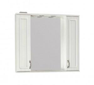 Зеркало-шкаф Style Line Олеандр-2 90/С, рельеф пастель