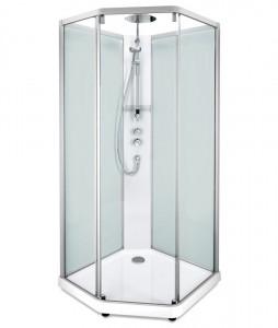 558.208.316 Душевая кабина IDO Showerama 10-5 Comfort, 100 x 100 см, стекло прозрачное, задние стенки матовые, профиль алюминий