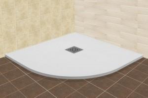 16153099-01 Душевой поддон RGW ST/R-0099W 14153099-01 90 x 90 см, четверть круга, цвет белый, из искусственного камня