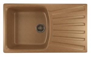 ML-GM20 (307) Кухонная мойка Mixline, врезная сверху, цвет - терракотовый, 85 х 49.5 х 19 см