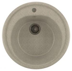 ML-GM11 (310) Кухонная мойка Mixline, врезная сверху, цвет - серый, 50.5 х 50.5 х 18 см