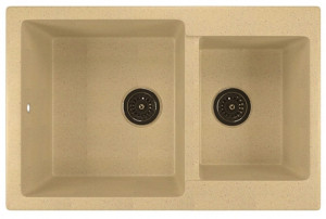 ML-GM30 (328) Кухонная мойка Mixline, врезная сверху, цвет - бежевый, 77 х 50 х 21 см