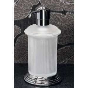 Сосуд для жидкого мыла настольный Colombo Hermitag хром, матовое стекло B9336