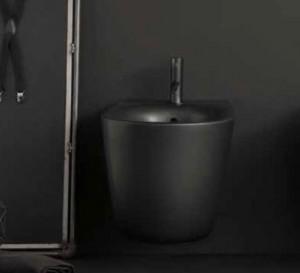 532531*1 Биде Kerasan Nolita подвесное 55 х 35 см,, c креплением WB9N, цвет черный матовый