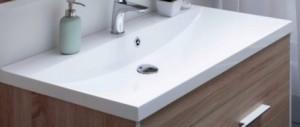 00204119 Раковина Aquanet Нота New 90 90x48 см встраиваемая, цвет белый