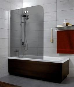 201203-105NL Шторка на ванну Radaway Torrenta PND 120 стекло графит L