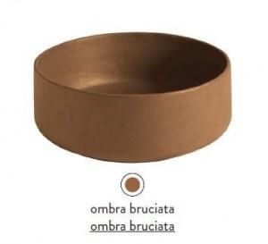 COL001 19; 00 Раковина ArtCeram Cognac Countertop, накладная, цвет - ombra bruciata, 42 х 42 х 16 см