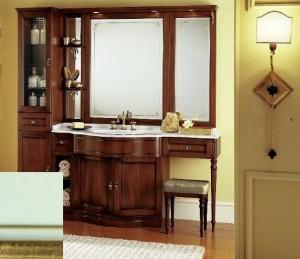 B1A-21_Verde Acqua Gold Тумба прямая Eurodesign IL Borgo B1A-21, Verde Acqua Gold/Верде аква с золотом