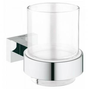 40755001 GROHE Essentials Cube Стакан с держателем, хром