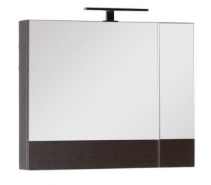 Зеркало-шкаф Aquanet Нота 75 (камерино) 00159109, цвет венге