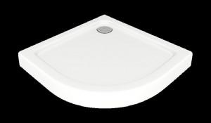 ПН00032 Душевой поддон Bas Раунд R 80 x 80 см акриловый, четверть круга, белый