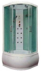 BasKorsa-gm-white Душевая кабина Bas Корса, гидромассажная, 90 x 90 см