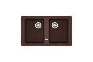 114.0296.702 Мойка Franke BASIS BFG 620,, гранит, цвет шоколад, установка сверху, 86*50 см