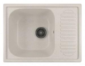 ML-GM18 (331) Кухонная мойка Mixline, врезная сверху, цвет - белый, 64.5 х 49 х 19 см