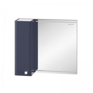 Зеркальный шкаф Edelform Nota 75, с LED-подсветкой, серый глянец