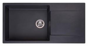 R30806 Мойка кухонная Reginox Amsterdam 540 100 x 50 см Black Silvery