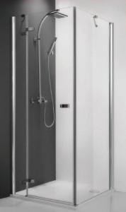 115-900000P-00-02/111-1000000-00-02 Душевой уголок Roltechnik Corner Elegant 100 x 90, правая дверь см, профиль хром