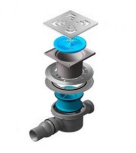 13000006 Трап водосток Pestan Confluo Standard Square 2 150*150 мм нержавеющая сталь без рамки