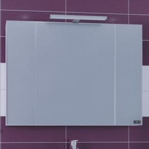 Зеркальный шкаф СаНта Стандарт 100 113013, цвет белый, с подсветкой