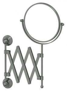 Настенное косметическое зеркало 3SC Stilmar STI 420 двустороннее с 2-х кратным увеличением, античное серебро